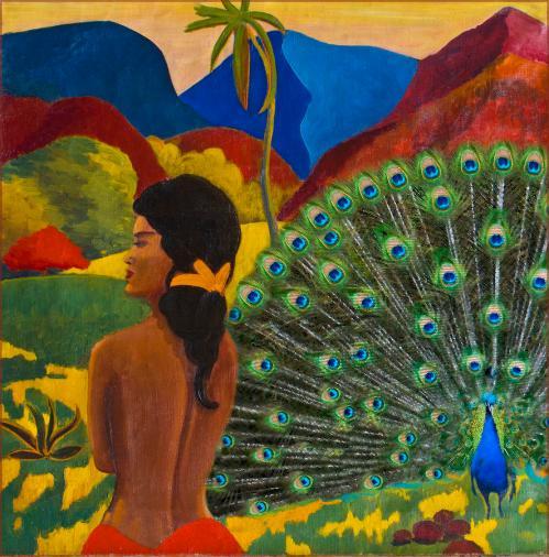 gauguin peacock