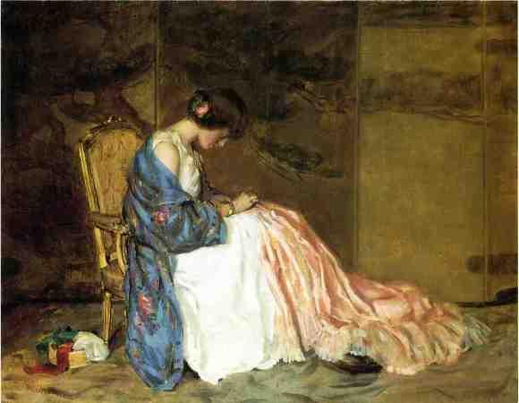 girl sewing