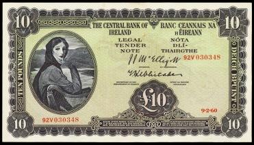 Ireland 10 Pound Note 1960 Lady Lavery.JPG