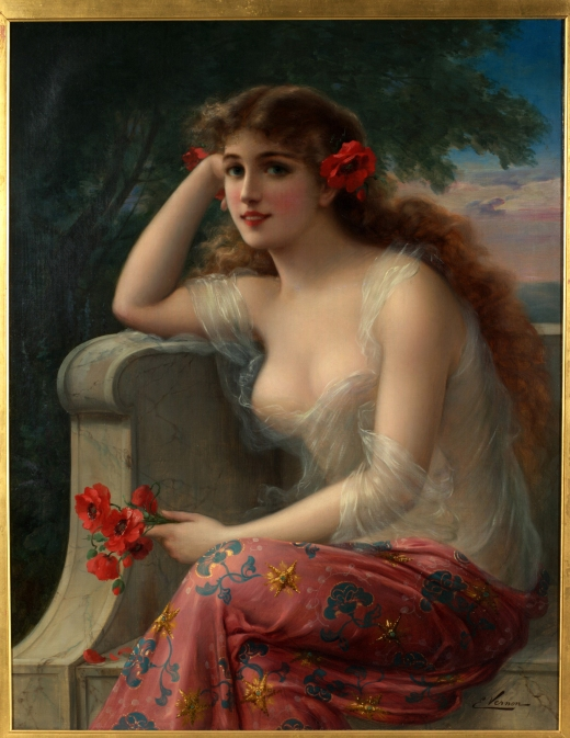 Emile_Vernon-Girl_with_a_Poppy