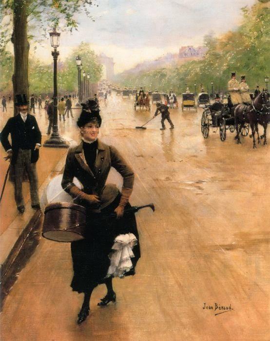 Jean Beraud La Modiste sur les Champs Elysees.jpg