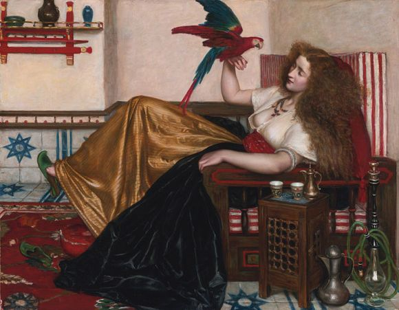 Reclining_Woman_with_a_Parrot_by_Valentine_Cameron_Prinsep.jpg